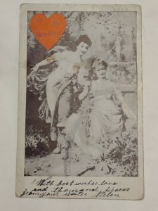 Postcard To My Valentine 1909 E M Budna New York Tricadero Theatre Chicago 1032