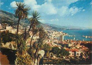 Postcard Monaco Monte Carlo panoramic sight