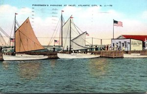 New Jersey Atlantic City Fisherman's Paradise At The Inlet 1941