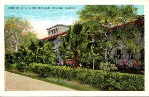 Florida Ormond Beach Home Of John D Rockefeller