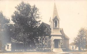 Weldon Iowa~United Methodist Church~Houses~1909 Real Photo Postcard~RPPC