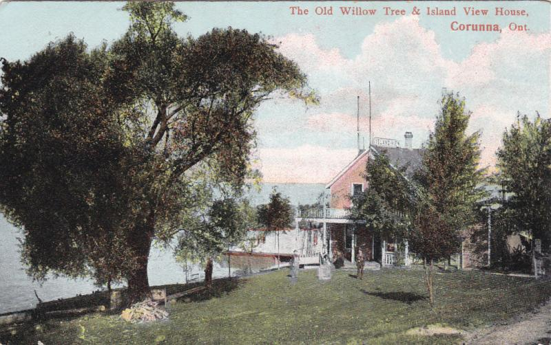 CORUNNA, Ontario, Canada, PU-1923; The Old Willow Tree & Island View House