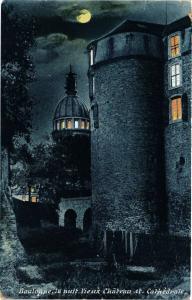 CPA BOULOGNE la nuit - Le Vieux Chateau et Cathédrale (240094)