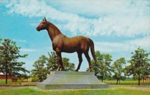 Horses Man O'War Statue Faraway Farm Lexington Kentucky