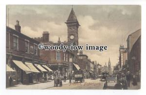 aj0502 - Lancs - The Bazaar & Church at Fishergate, in Preston - Postcard