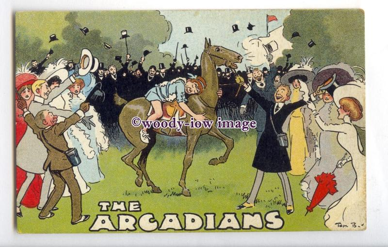 su3451 - The Arcadians - Tom Browne Theatre advert postcard