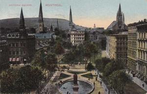Victoria Square - Montreal QC, Quebec, Canada - pm 1915 - DB