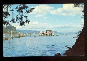Knappton, Washington/WA Postcard, Hungry Harbor, Columbia River