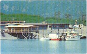 Wyatt House Dock Scene, Valdez Alaska AK, Chrome