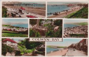 RP; Hand-colored, Seven views of COLWYN BAY, Conwy County Borough, Wales, Uni...