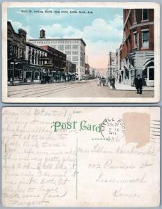 LITTLE ROCK AR MAIN STREET 1920 ANTIQUE POSTCARD