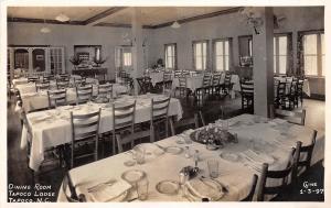 C30/ Tapoco Lodge North Carolina NC RPPC Postcard c1940s Interior Dining Room