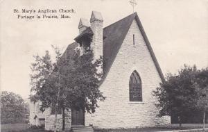 PORTAGE LA PRAIRIE , Manitoba , Canada , PU-1908 ; St Mary's Anglican Church