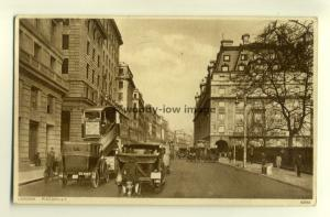 tp7108 - London - Old View of Picadilly with Cars and Buses -  Postcard