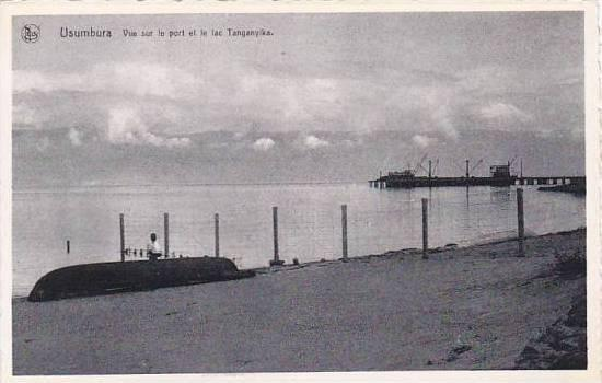 Belgian Congo Usumbura Vue sur le port et le lac Tanganyika Real Photo