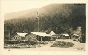 NH, Crawford Notch, New Hampshire, Willy House Camps, SAS, RPPC