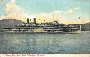 Albany NY Day Line BoatHendrick Hudson Ship Postcard