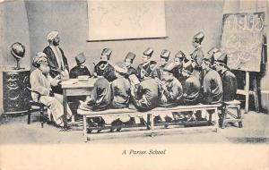 India A Parsee School, Children at Table