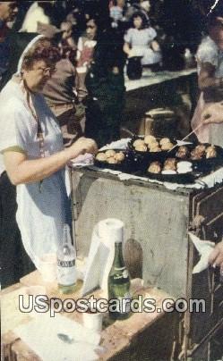 Cooking Aebleskiver for Breakfast, Danish Days