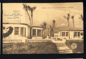 Daytona Beach, Florida/FL Postcard, Oceana Villas, Quality Courts,1951!