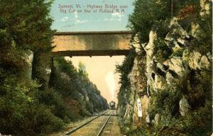 VT - Summit. Covered Highway Bridge over Big Cut on line of Rutland Railroad