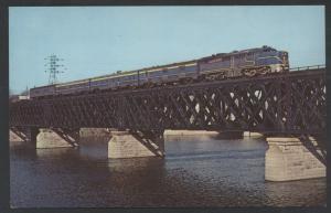 Laurentian Delaware Hudson Bridge Train Mohawk River Cohoes NY Railroad Postcard