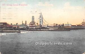 Amusement Park Postcard Post Card Waterfront Coney Island, New York, NY, USA ...