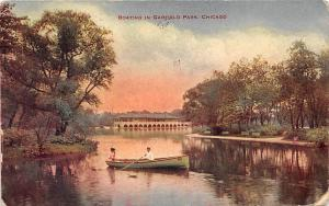 Chicago Boating in Garfield Park, bateau boat boote 1913