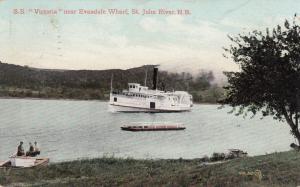 S.S. VICTORIA near Evandale Wharf, St Johns , New Brunswick , Canada , PU-1907