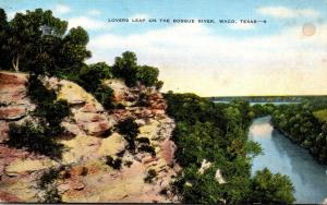 Texas Waco Lovers Leap On The Bosque River