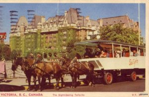 HORSE-DRIVEN SIGHT-SEEING TALLY-HO VICTORIA B.C. CANADA