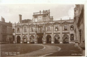 Northamptonshire Postcard - Kirby Hall N.W. Side of Courtyard - Ref TZ2626