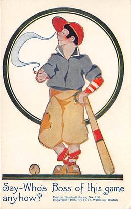 Say who's Boss of this Game Anyhow Base Ball Baseball  Post Card Say who's B...