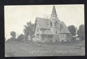 MADELIA MINNESOTA METHODIST EPISCOPAL CHURCH VINTAGE ANTIQUE POSTCARD