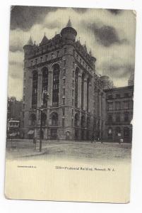 Newark NJ Prudential Building Souvenir Post Card Co Vintage UND Postcard ca 1905