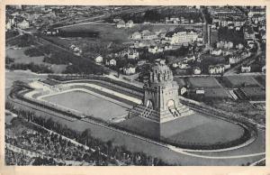 Leipzig Voelkerschlachtdenkmal Monument Air view Panorama