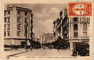 CPA CASABLANCA La Rue de Marseille a l'angle de la Rue MAROC (824617)
