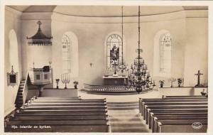 RP; Hjo. Interior av Kyrkan , Sweden, 30-40s