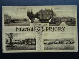 North Yorkshire Coxwold NEWBURGH PRIORY 5 Image Multiview c1909 Postcard