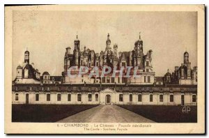 Old Postcard Chambord Le Chateau Facade meridionale