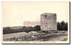 Old Postcard Environs d & # 39Arles Fontvieille Moulin de Daudet A