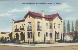 Fine Residence On Avenida Lerdo, Juarez, Old Mexico, 1930-1940s