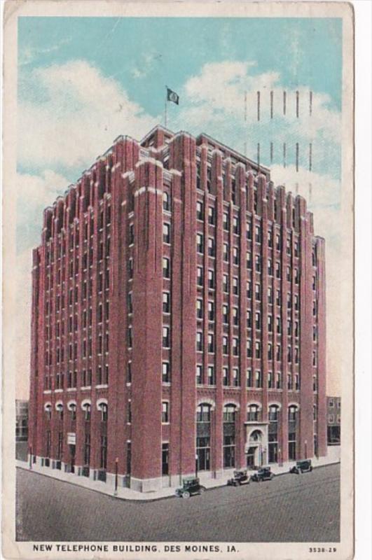 Iowa Des Moines New Telephone Building 1935 Curteich