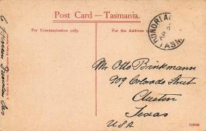 Elizabeth Street, Hobart, Australia, Early Postcard, Used