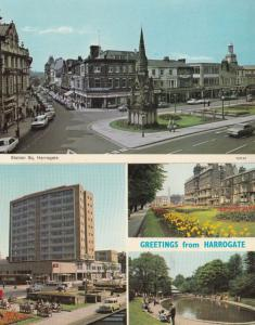 Station Square Harrogate Civic Centre 2x 1970s Postcard s