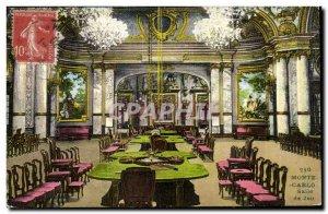 Old Postcard Monte Carlo Casino Game room