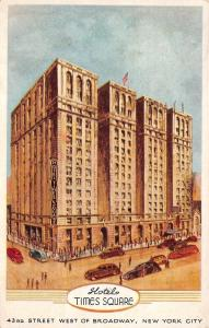 New York City~Hotel Times Square~43rd Street~Artist Drawn~World's Fair~1940 PC