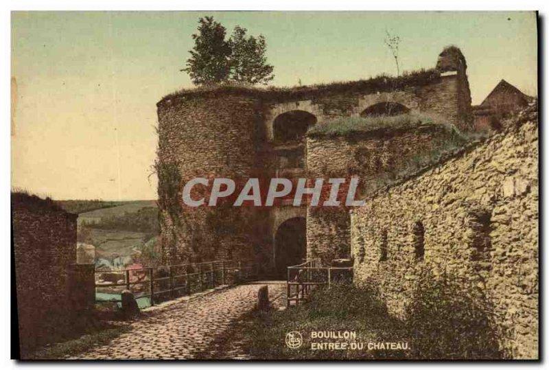 Old Postcard Bouillon castle Entree