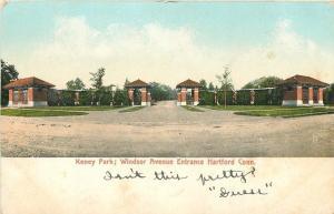 Hartford Connecticut~Windsor Ave Entrance to Keney Park 1905 Postcard