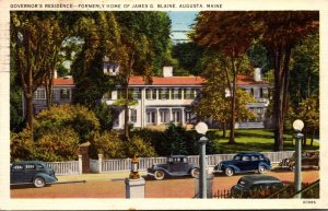 Maine Augusta Governor's Residence Formerly Home Of James G Blaine 1939